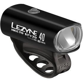 Lezyne Hecto Drive 40 Frontlicht StVZO Y11 schwarz-glänzend/weiß